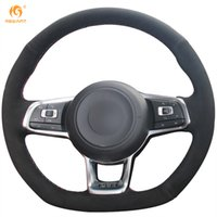 Mewant Black Suede Car Volant pour Volkswagen Golf 7 GTI Golf R MK7 VW Polo GTI Scirocco 2015 2016