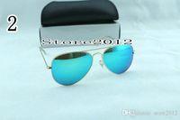 Wholesale sunglasses color order resale online - Sunglasses Glasses Eyewear Hot Mens Womens Sunglasses mm With Fashion Sun Order Lenses Designer Sell Pilot Box Mix Color Dwehv