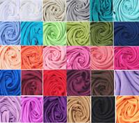ingrosso scialli massicci di seta-DHL libera il trasporto all'ingrosso 40 pz Pashmina Cashmere seta scialle solido Wrap sciarpa unisex Sciarpa delle donne Pure 40 colore sciarpa