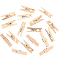 Wholesale CM Mini Natural Wooden Clothes Pin Photo Paper Peg Clothespin Craft Clips