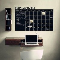 Wholesale Paper Wall Calendar - 92*60cm New This Month Calendar Chalkboard Removable Planner Wall Stickers Office Home Decor Backboard Stickers Wall Decals
