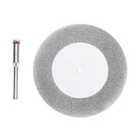 Wholesale abrasive accessories - 60mm Diamond Cutting Disc for Mini Drill Dremel Tools Accessories Diamond Disc Steel Rotary Tool Circular Saw Abrasive Saw Blade