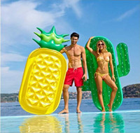 Wholesale Bali Rings - Hot Inflatable Pool 71 inch 180CM Pineapple Air Mattress Fruit Bali Island Holiday Inflatable Swim RING Pool Float Water Toy YYA226