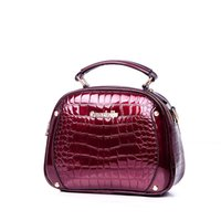 Wholesale Wine Bags For Women - Wholesale-Fashion Alligator Bags Handbags Women Famous Brands Luxury Handbags Women Bags Designer Small Shoulder Bags For Female Wine Red
