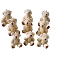 Wholesale Ted Christmas Bear - 40pcs lot Kawaii Small Joint Teddy Bears Stuffed Plush6CM Toy Teddy-Bear Mini Bear Ted Bears Plush Toys Wedding Gifts 008