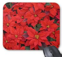 Wholesale I Pad Computer - Rectangular non-slip natural rubber mouse mat red poinsettias i christmas holiday floral photo mouse pad computer accessories office