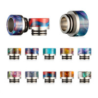 Wholesale tfv8 drip tip stainless for sale - Group buy New Arrival Epoxy Resin Drip Tip Stainless Steel Wide Bore drip tips for TFV8 TFV12 Sub Ohm Tank thread Box Mods