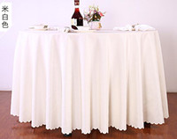 Wholesale Wedding Tablecloths Wholesale - Table cloth Table Cover round for Banquet Wedding Party Decoration Tables Satin Fabric Table Clothing Wedding Tablecloth Home Textile WT045