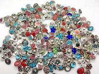 Wholesale Mini Charm Bracelets - Wholesale 50pcs Lot Mix style 12mm Mini Ginger Snap Charm Button Interchangeable Snap Jewelry Fit Noosa Snap Chunk cham Bracelets