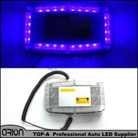Wholesale Led Caution Light Bar - High Power Car 24 LED Strobe Flashing Light Blue Mini Bar Led Policeman fireman Caution Lamp Emergency Lights Free Shipping