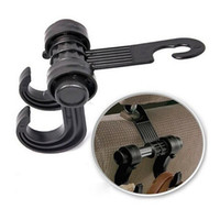 Wholesale Double Vehicle Hangers - Practical Convenient Auto Car Vehicle Seat Headrest Bag Double Hanger Hook Holder For Bag Purse Cloth Coat Grocery