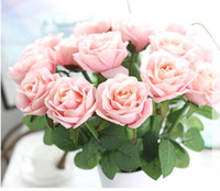 Wholesale Display Desk - 50pcs Free Shipping dia 7.5cm Wholesale Charming Artificial Wedding Bouquets Spring Rose Flowers Floral Wedding Home Hotel Desk Decoration