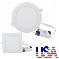 "Wholesale Led Square Recessed Ceiling Lights - 4"" 5"" 6"" 7"" 8"" Dimmable Led Downlights Recessed Lights 4W 6W 9W 12W 15W 18W 21W Led Ceiling Down Lights 110-240V + Drivers"