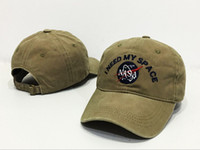 Wholesale Gold Meat - rare I NEED MY SPACE NASA Meat Ball 6 god Embroidered Cotton dad hat snapback Baseball cap 4 Colors FREE SHIP casquette