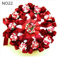Wholesale Triangle Sweet Box - 1000 pcs Creative Sweet Butterfly Ribbon Cake Candy Boxes + Flower + Card Wedding Favor Gift Paper Box free shipping