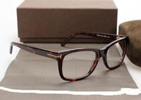 ingrosso gli occhiali degli uomini ottici-Occhiali da vista da uomo Frame Tom 5176 Brand Designer Plank Cornice grande montature da vista per donna Retro Miopia Montature da vista con custodia