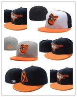 Men orioles baseball cap - Cheap Baltimore Orioles fitted hats baseball cap full closure Orioles hats size flat brim hat Fitted Caps