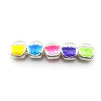 Wholesale Enamel Handbag Beads - Silver Tone Handbag Shape European Beads Enamel Charm Beads Fit Jewelry DIY