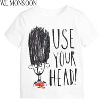Wholesale England Tshirt - W.L.MONSOON Boy T shirts for Kids 2017 Brand Summer Toddler Boy Tops Girls T shirt Stylish Letter Print Children Tshirt