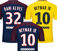Wholesale Hot Sale Neymar JR home DANI ALVES DI MARIA Soccer Jerseys maillots Away Yellow VERRATTI CAVANI MATUIDI Football Shirts