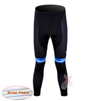Wholesale giant cycling thermal clothing - 2017 giant long Pants Pro cycling Winter Thermal Fleece cycling Clothing MTB Bib long pants Bicycle clothing D1212