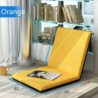 Wholesale Beanbag Tatami Comfortable Sofa Chair Lazy sofa folding single bed adjustable floor legless chair fabric chair with back support S Colors