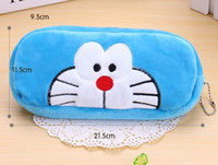 Wholesale Doraemon Pen Pencil - Wholesale- Kawaii Cartoon Doraemon 20CM Plush Coin Wallet BAG Purse Pen Pencil BAG Pouch ; Key Purse Wallet BAG Pouch Handbag