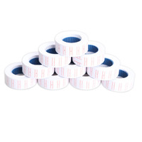 Wholesale Wholesale Labels Stickers - Wholesale- New 10x Paper Tag Price Label Sticker Single Row for MX-5500 Price Gun Labeller 21mmX12mm Hot Sale
