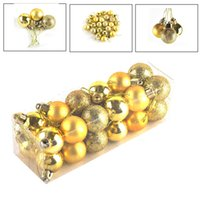 Barato Bolas De Natal Para Árvores-24pcs / lot Christmas Tree Decor Bola Bauble Pendurado Xmas Decorações de ornamento de festa para casa Beautiful Party Festival Xmas Supplements 0708041