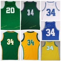 Wholesale Flash 13 - Retro Vintage 34 Ray Allen Jersey 20 Men Throwback Basketball 13 Glenn Robinson All Stitched Color Green White Purple Yellow With Name