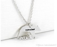 Wholesale New Polar Bear - New Mama Bear Necklace Fashion silver plated Polar Mama Bear Necklaces jewelry Gifts for Mom Wife Mother's Day Gift Birthday Remembranc