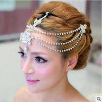 Wholesale marriage jewelry - 2017 factory direct bride wedding jewelry headdress alloy Korean watercolor headdress head wedding marriage female bride Hair ornaments