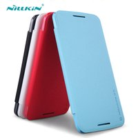 Wholesale Nillkin Fresh Series - Cell Phone Cases For Motorola MOTO Nexus6 Originil NILLKIN Fresh Series Flip Leather Case With Retail Package