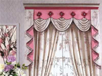 Wholesale Brand New For Home And Garden silk all colors drop shipping pretty and cute curtain