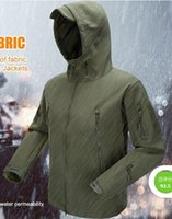 Wholesale Waterproof Hunting Clothing For Men - Wholesale- outdoor hunting clothing for camping climbing hiking jackets softshell Fleece fabric,instant waterproof coat for men