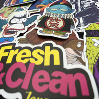 Wholesale word laptop - 700 Colorful Skateboard Stickers Luggage Car Laptop Decals Sticker Mix