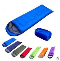 Wholesale Outdoor Camping Sleeping Bags Waterproof - 7 Colors Outdoor Envelope Type Sleeping Bags Winter Camping Waterproof Warming Single Sleeping Bag Casual Single Sleeping Bag CCA5946 20pcs