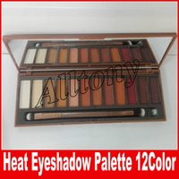 Wholesale Dhl Makeup Brush Set - NEW Heat Palette HEAT Eye Shadow Palette 12 colors Eyeshadow Makeup Cosmetics set with brush DHL