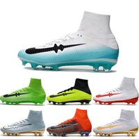 Drop Shipping Wholesale Football Shoes Men Mercurial Superfly V FG CR7 Soccer Boots Hot Sale Outdoor High Quality Sport Shoes Tamanho 6.5-11