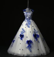 Bunte Stickerei Brautkleider Ballkleid Bodenlangen 3D-Floral Applikationen Schöne Brautmode Real Picture Elegant Wedding Dress