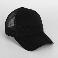 Wholesale Fitted Mesh Baseball Hats - Hot Sale New Fashion Tide Brand Snapback Caps Mesh Strapback Baseball Cap Bboy Hip-hop Hats For Men Women Fitted Hat Black White Pink M Top