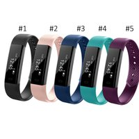 ID115 Smart Bracelet Fitness Tracker Step Counter Activity Monitor Band Alarm Clock Vibration Wristband pour iphone Téléphone Android OTH639