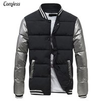 Wholesale Korean Winter Fashion For Male - Wholesale- Hot 2016 New Winter Couple Models Tyrant Gold Korean Jacket Men Slim Fit Fashion Coat Parkas For Male Mens Brand Clothing S-XX