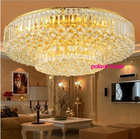 60cm Luxe moderne OR LED Crystal Ceiling Light Restaurant Lobby Pendant Lamp