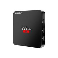 Wholesale set top boxes for sale - Android V88 tv boxe Cheapest RK3229 Quad Core GB GB Smart Tv Box WiFi D HDMI TV Cheap Set top Box Media Player