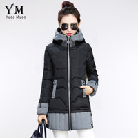 Wholesale Long Khaki Feather Coat - Parkas Women Winter Jacket Korean Fashion Long Trick Female Warm Down Jacket Ladies Plus Size Women Parka Coat YRF034