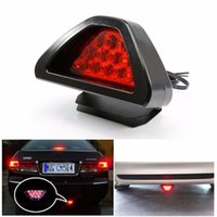 Wholesale Third Tail Light Led - Universal F1 Style 12 LED Red Rear Tail Third brake lamp led light car