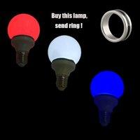 Wholesale Magic Tricks Light Bulb - Wholesale- multicolor Magnet Control Magic Light Bulb( White Red Blue 3 Color) Lamp Magic trick & Magnet Ring Magic props 81078