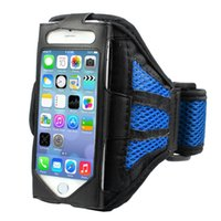 Wholesale Fitness Armbands - Wholesale-Outdoor Universal Sport Mobile Phone Running Armband Arm Band iPhone 6 Plus Case Wallet (5.5 Version) Fitness Gym Equipment Gift
