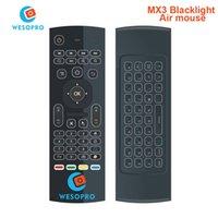 ingrosso mini decoder-All'ingrosso WESOPRO MX3 Backlight 2.4G Wireless Remote Control Keyboard Controller Air Mouse per il decoder per la TV Smart TV Android mini PC HTPC nero